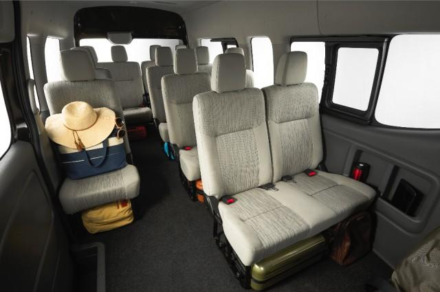 Inside the nissan urvan premium