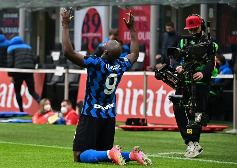 Inter forward Romelu Lukaku scored in his fourth consecutive Serie A Milan derby.