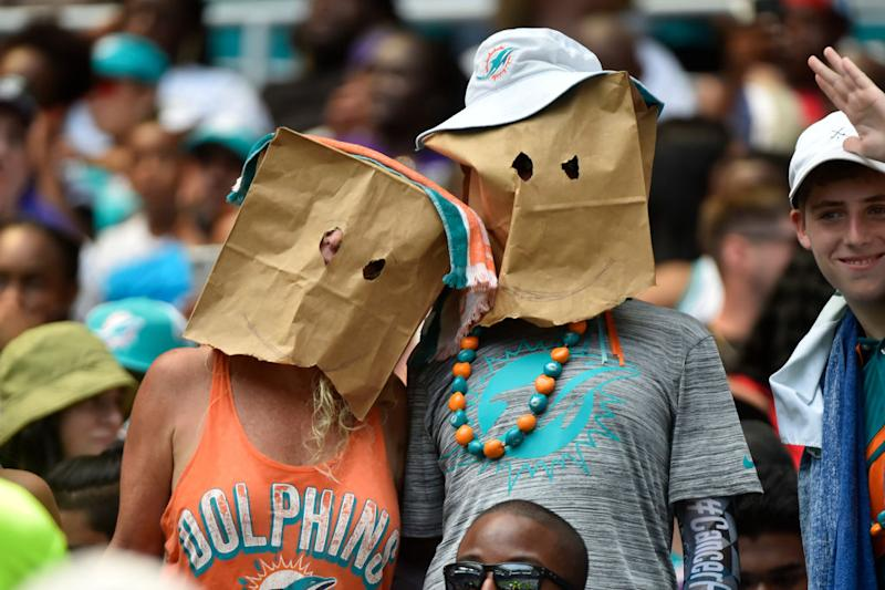 We wouldn't show our faces either. (Getty)