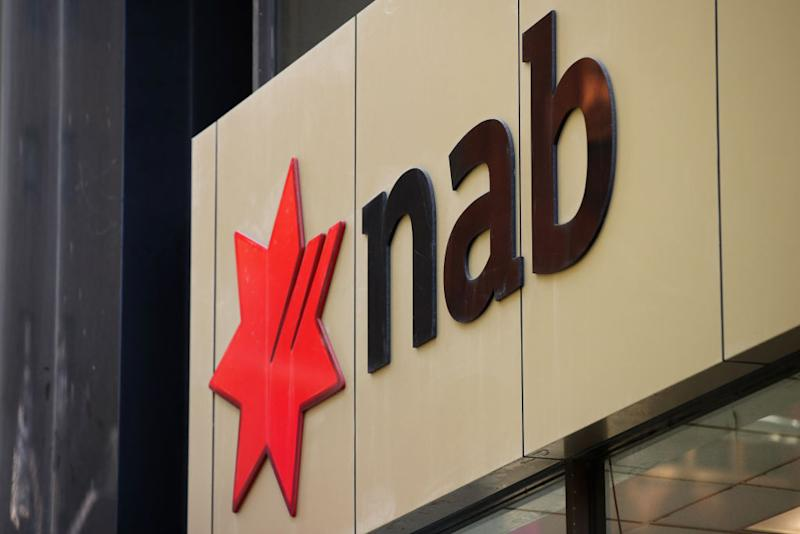 Signage is displayed at a National Australia Bank Ltd. (NAB) branch in Sydney, Australia, on Friday, Feb. 8, 2019. National Australia shares fell after the chief executive officer and chairman both resigned, becoming the highest-profile casualties of a sweeping inquiry into misconduct in the country's financial industry. Photographer: Brendon Thorne/Bloomberg