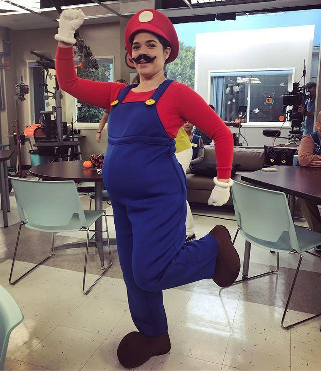 """<p>The best part about this Halloween costume is that all the warm layers (the long-sleeve shirt underneath, the white gloves, the hat, and the boots) are all stuff that Mario actually wears.</p><p><a href=""""https://www.instagram.com/p/BpYVuruhR2f/?utm_source=ig_embed&utm_campaign=loading"""" rel=""""nofollow noopener"""" target=""""_blank"""" data-ylk=""""slk:See the original post on Instagram"""" class=""""link rapid-noclick-resp"""">See the original post on Instagram</a></p>"""