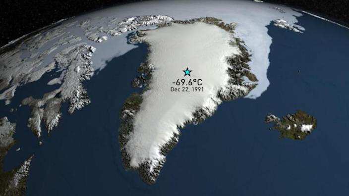 Uncovered after 30 years, Greenland temperature sets new record for extreme cold