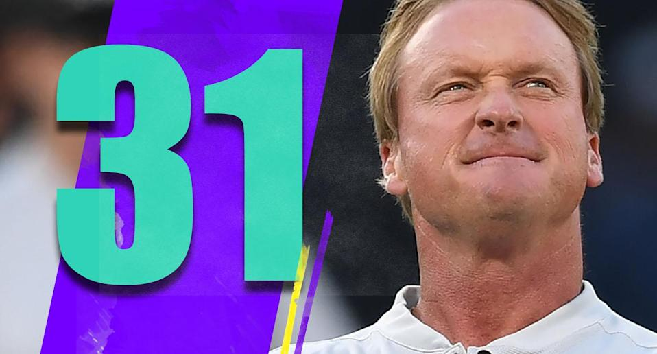 <p>It's become a popular thing to rip Jon Gruden, but give him his due: He got a first-round pick for Amari Cooper when that's probably way more than Cooper is worth. (Jon Gruden) </p>