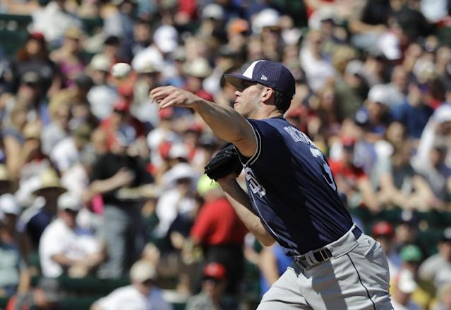 San Diego Padres' Clayton Richard carries an exceedingly affordable contract. (Darron Cummings/AP)