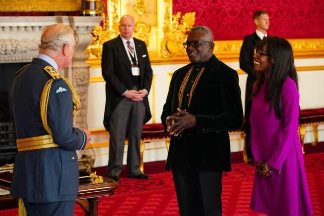 Rudolph Walker is made a CBE by Charles