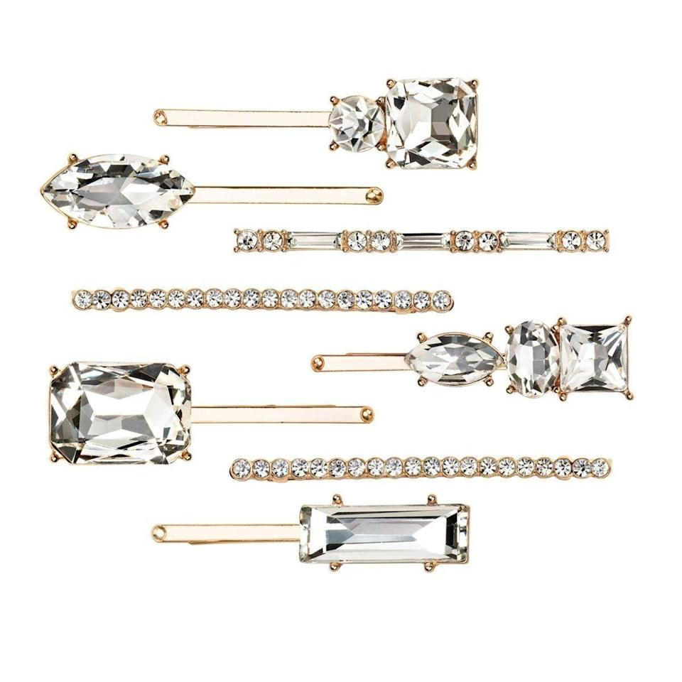<p>Having great hair is one thing, but being able to add some spice to it with fun accessories is another. The <span>Kitsch Rhinestone Hair Pin Set</span> ($29) comes with eight rhinestone-adorned pins that add a little bit of luxury to any hairstyle.</p>