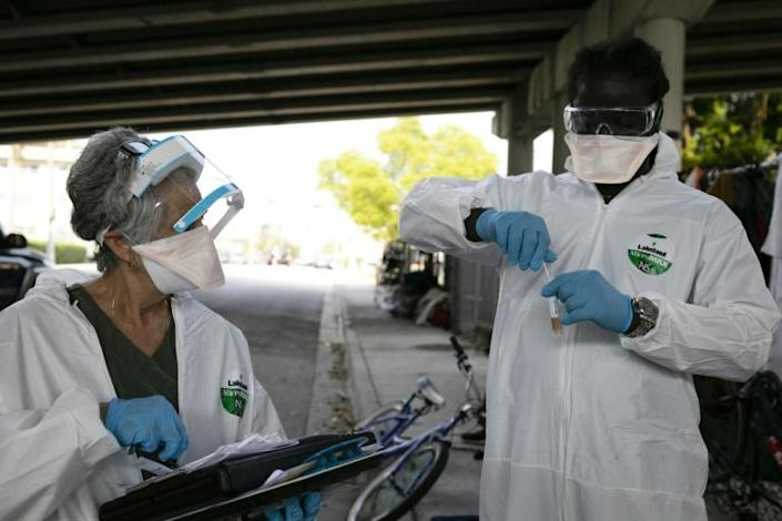 Coronavirus testing is still not up to speed across the country, some experts say (AFP Photo/Eva Marie UZCATEGUI)
