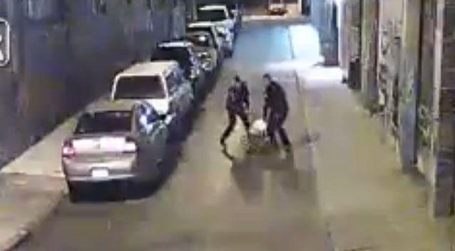 The footage has led to calls for criminal charges against the two officers. Photo: Screenshot