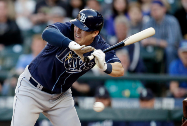 "<a class=""link rapid-noclick-resp"" href=""/mlb/players/9438/"" data-ylk=""slk:Corey Dickerson"">Corey Dickerson</a> is surging in the leadoff spot (AP)"
