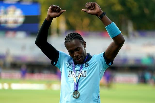 Jofra Archer starred during England's World Cup win (John Walton/PA)
