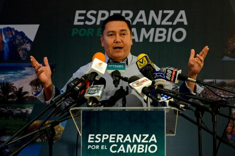 Venezuelan presidential candidate and evangelical pastor Javier Bertucci scoffs at assertions from the opposition that he is merely a political stooge to legitimize President Nicolas Maduro's election in April
