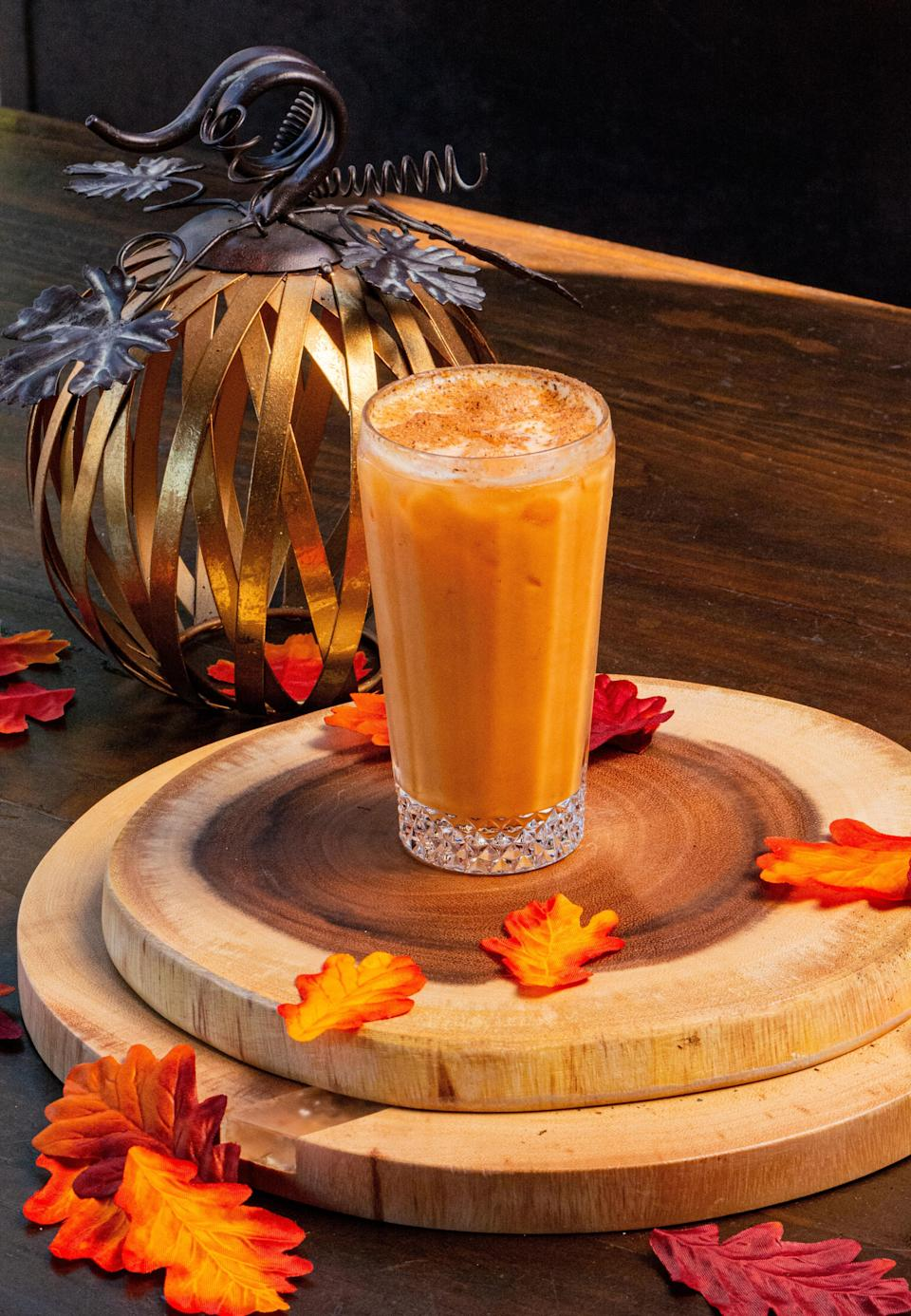 "<p>This cocktail recipe merges flavors of the tropics in the fall. Beachy flavors like coconut and pineapple are combined with pumpkin spice, rum and whiskey to create a cocktail you can serve alongside <a href=""https://www.thedailymeal.com/cook/101-best-thanksgiving-recipes-gallery?referrer=yahoo&category=beauty_food&include_utm=1&utm_medium=referral&utm_source=yahoo&utm_campaign=feed"" rel=""nofollow noopener"" target=""_blank"" data-ylk=""slk:our 101 best Thanksgiving recipes"" class=""link rapid-noclick-resp"">our 101 best Thanksgiving recipes</a>.</p> <p><a href=""https://www.thedailymeal.com/recipe/pumpkin-paradise-recipe?referrer=yahoo&category=beauty_food&include_utm=1&utm_medium=referral&utm_source=yahoo&utm_campaign=feed"" rel=""nofollow noopener"" target=""_blank"" data-ylk=""slk:For the Pumpkin Paradise recipe, click here."" class=""link rapid-noclick-resp"">For the Pumpkin Paradise recipe, click here.</a></p>"