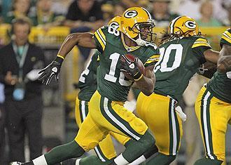 Rookie receiver and returner Randall Cobb was electric in the limited times he was involved in a play