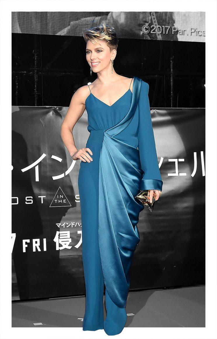 Scarlett Johansson attends the world premiere of Ghost in the Shell in Tokyo