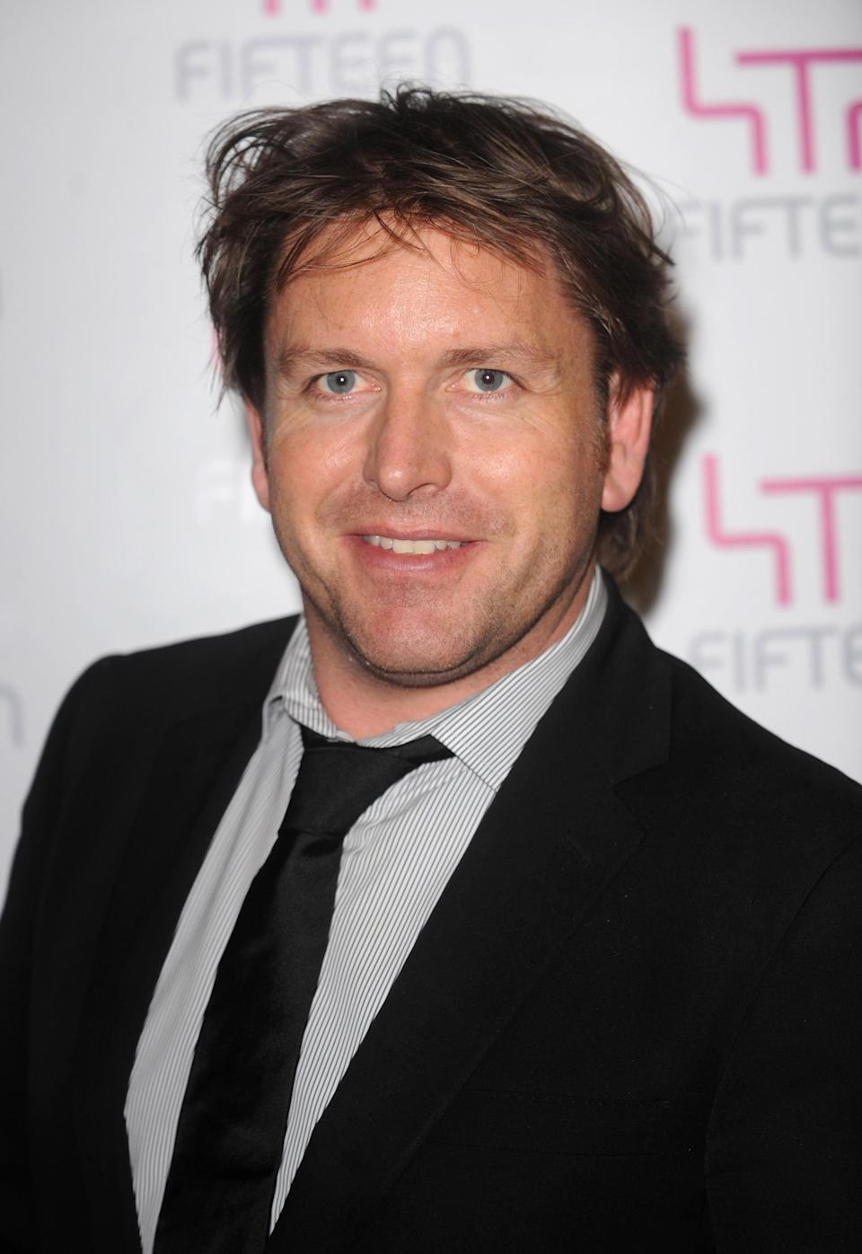 James Martin arrives for celebrity chef Jamie Oliver's Big Night Out, a fundraising event for the Fifteen Foundation, at Shoreditch Town Hall in east London.