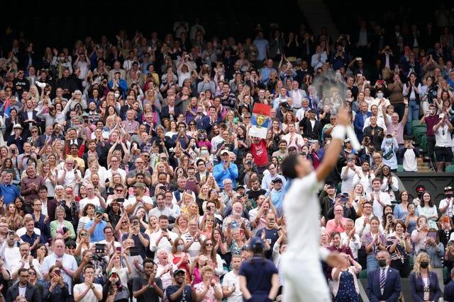 The atmosphere at Wimbledon was superb