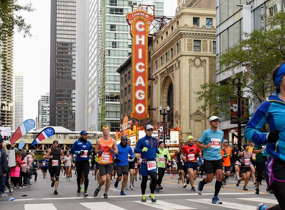 "<p>At the <a href=""https://www.chicagomarathon.com/runners/rules-safety/event-rules/"" rel=""nofollow noopener"" target=""_blank"" data-ylk=""slk:Chicago Marathon"" class=""link rapid-noclick-resp"">Chicago Marathon</a>, if you leave the course, you're out of the race and can't re-enter. </p>"