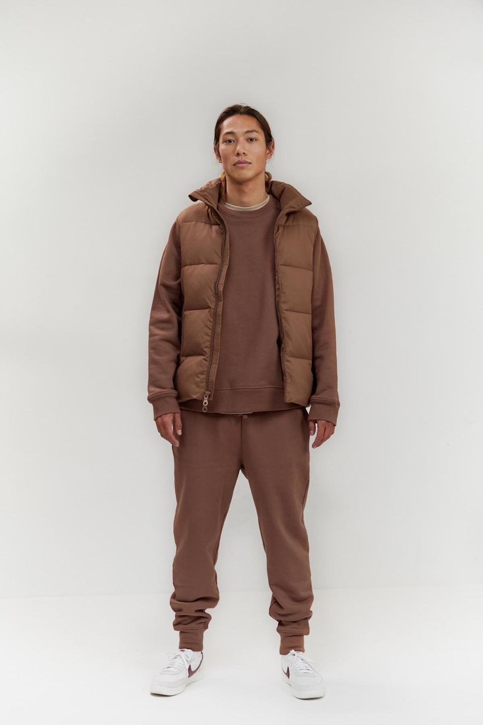 """<h2>Girlfriend Collective Everyone Puffer Vest<br></h2><br><strong>Why It's A Best Buy: </strong>This Shopping writer has been living in a puffy vest for the last few weeks — on more temperate days, the layer can fly solo, and when temperatures plummet, it provides an extra boost of warmth. I'm seriously, <em>seriously</em> eyeing Girlfriend Collective's new gender-neutral style to add to my puffer collection.<br><br><strong>The Review:</strong> OK, this vest literally launched <em>yesterday</em> — so it has yet to accrue the glowing accolades of Girlfriend Collective's other beloved workout and loungewear staples. However, here's more news you can use to inform your purchase: like everything in the brand's collection, the puffer is made from a polyester that's created entirely from plastic bottles, <em>and</em> Girlfriend will recycle the puffer when you decided to take it out of the rotation — not like that's going to happen anytime soon.<br><br><strong>Girlfriend Collective</strong> Coffee Everyone Puffer Vest, $, available at <a href=""""https://go.skimresources.com/?id=30283X879131&url=https%3A%2F%2Fwww.girlfriend.com%2Fcollections%2Ffor-everyone%2Fproducts%2Fcoffee-everyone-puffer-vest"""" rel=""""nofollow noopener"""" target=""""_blank"""" data-ylk=""""slk:Girlfriend Collective"""" class=""""link rapid-noclick-resp"""">Girlfriend Collective</a>"""