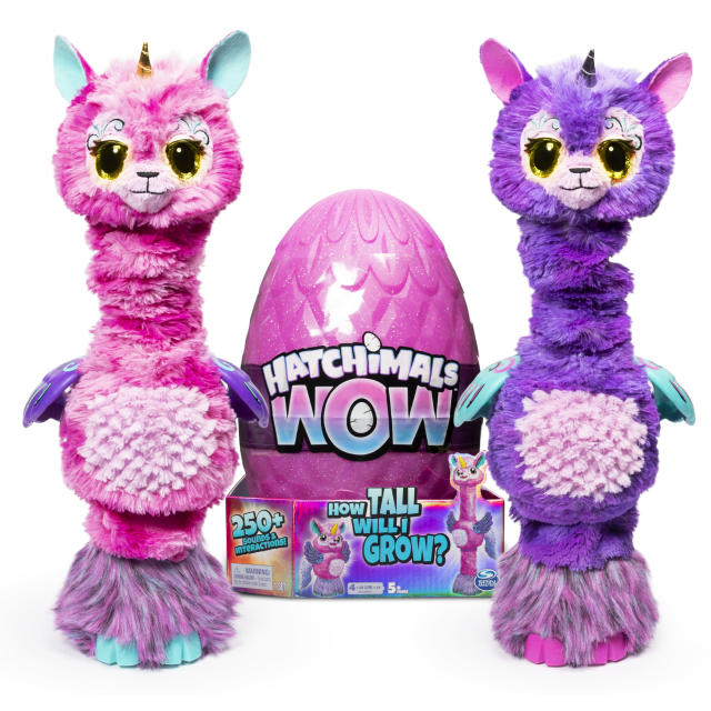 Hatchimals WOW, Llalacorn 32-Inch Tall Interactive Hatchimal with Re-Hatchable Egg. (Photo: Walmart)