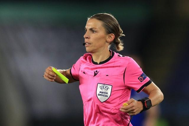 Frappart refereed Leicester in the Europa League last month