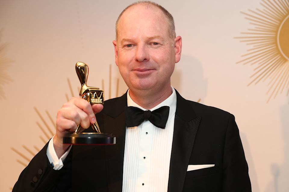 Tom Gleeson poses with the Gold Logie Award for Most Popular Personality