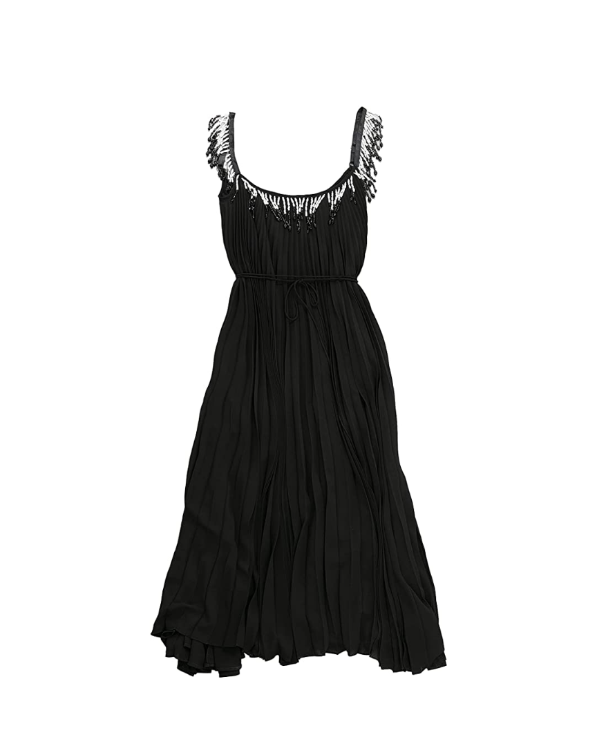"""<p><em>Christopher Kane Beaded Dress, $1,495</em></p><p><a class=""""link rapid-noclick-resp"""" href=""""https://www.amazon.com/dp/B093VHT39N/ref=cm_sw_r_cp_api_glt_fabc_3E50NAPZ3D78M529N46K?tag=syn-yahoo-20&ascsubtag=%5Bartid%7C10056.g.36320745%5Bsrc%7Cyahoo-us"""" rel=""""nofollow noopener"""" target=""""_blank"""" data-ylk=""""slk:SHOP NOW"""">SHOP NOW</a></p><p>Christopher Kane has long been an editor favorite, with pieces that manage to be both simple and utterly unique at the same time. In the same way, each design is easily dressed up or down.</p>"""