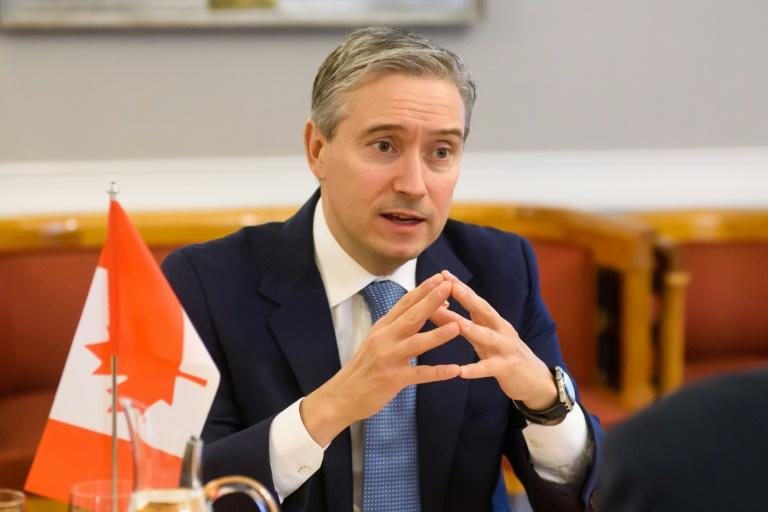 Canadian Minister of Foreign Affairs Francois-Philippe Champagne is seen in March 2020