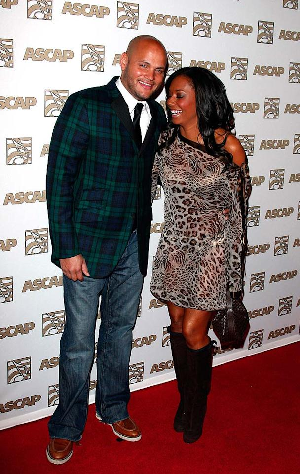 "Melanie ""Scary Spice"" Brown's leopard dress clashes big time with her hubby Stephen Belafonte's plaid suit jacket. At least they can laugh about it! Jean Baptiste Lacroix/<a href=""http://www.wireimage.com"" target=""new"">WireImage.com</a> - April 9, 2008"