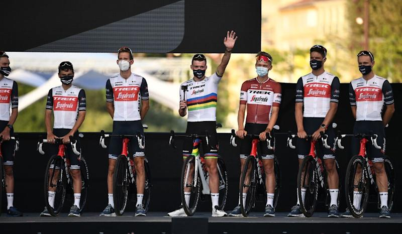 Road race world champion Mads Pedersen (Trek-Segafredo) will have the opportunity to show off his rainbow stripes on the roads of France