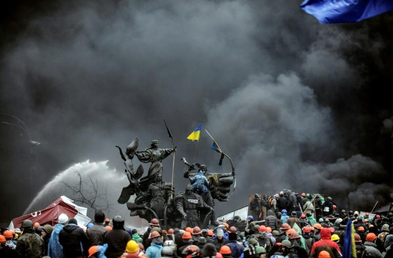 Ukraine's former president Viktor Yanukovych fled in February 2014 after three months of pro-EU street protests culminated in a bloody standoff with anti-riot police in which nearly 100 people were shot dead