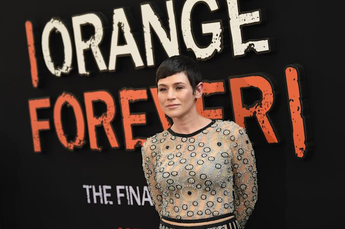 """Yael Stone attends the """"Orange Is The New Black"""" Final Season World Premiere at Alice Tully Hall, Lincoln Center on July 25, 2019 in New York City. (Photo by Dimitrios Kambouris/Getty Images)"""