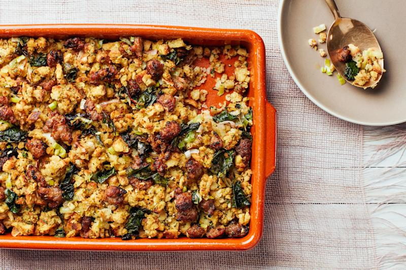 Believe it—this stuffing came from a box!