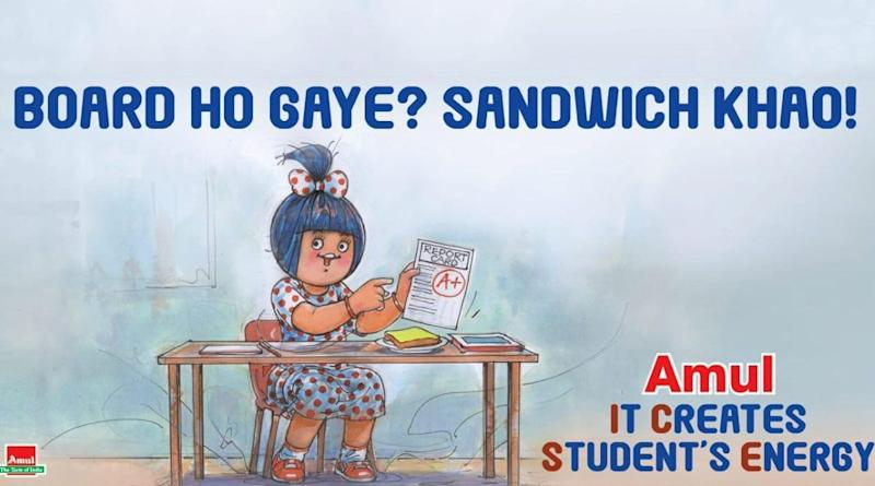 Amul Makes Funny Topical Ad on Class 10 CBSE & ICSE Board Exams Cancelled, Asks 'Board Ho Gaye?' (See Picture)