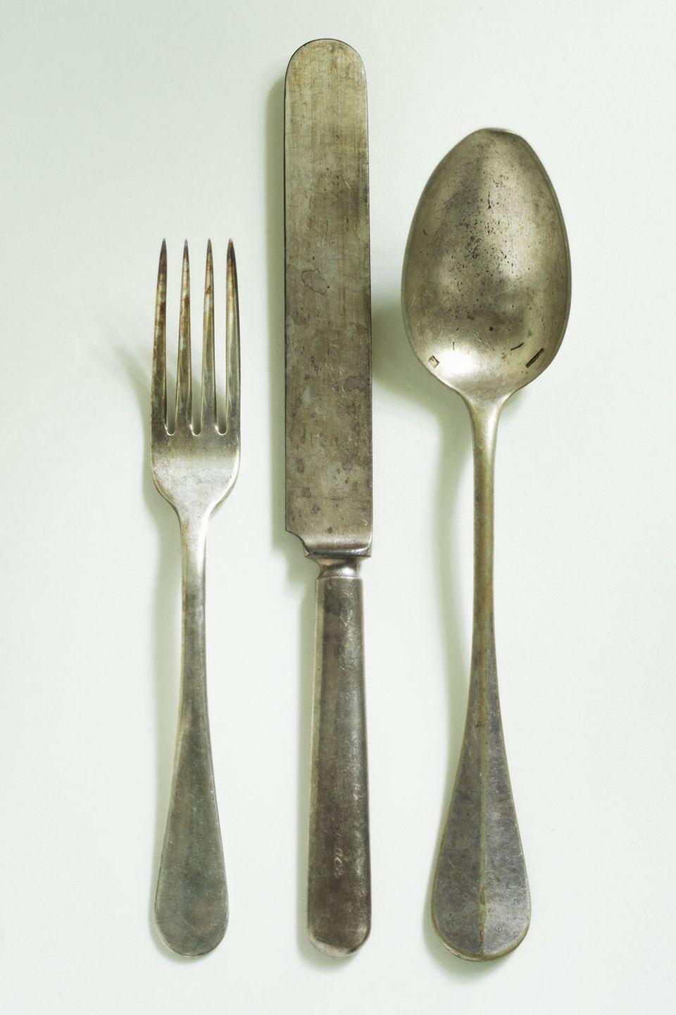 <p>Time to bust out your grandmother's old dinnerware. Sets of sterling silver flatware can be worth anywhere from hundreds to thousands of dollars. If you have a complete set from a big brand like Tiffany, you could be in for a real payday.</p><p><strong>What it's worth: </strong>Up to $1,100 per piece<br></p>