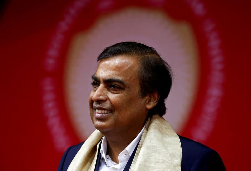 FILE PHOTO: Mukesh Ambani, Chairman and Managing Director of Reliance Industries, attends a convocation