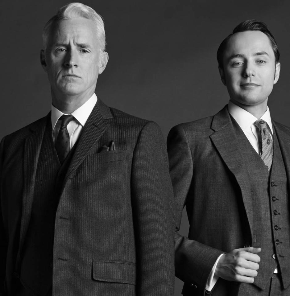 Roger Sterling (John Slattery) and Pete Campbell (Vincent Kartheiser) - Mad Men - Season 6