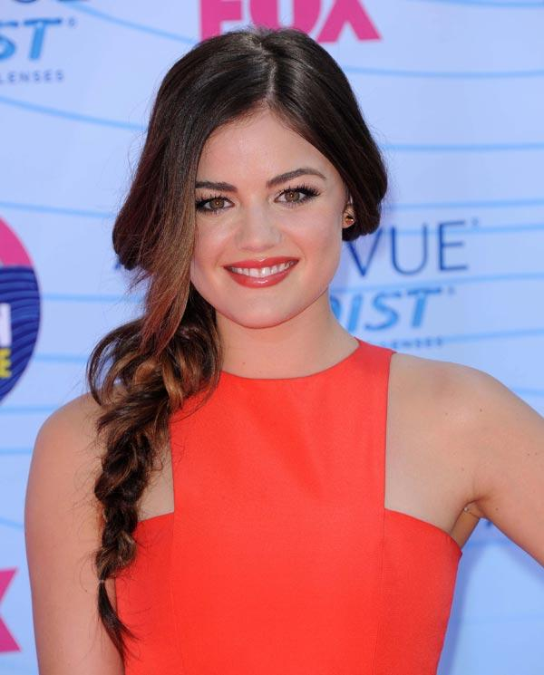Lucy Hale Is This Week's Red Carpet Winner: Steal Her Bright Lips & Side Braid