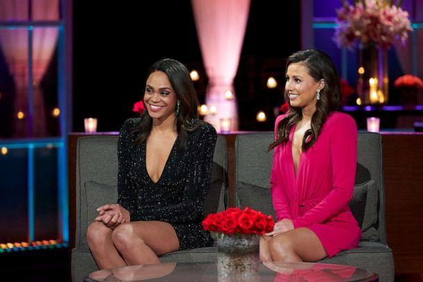 PHOTO: Michelle and Katie on The Bachelor 'After the Final Rose,' March 15, 2021. (Craig Sjodin/ABC)