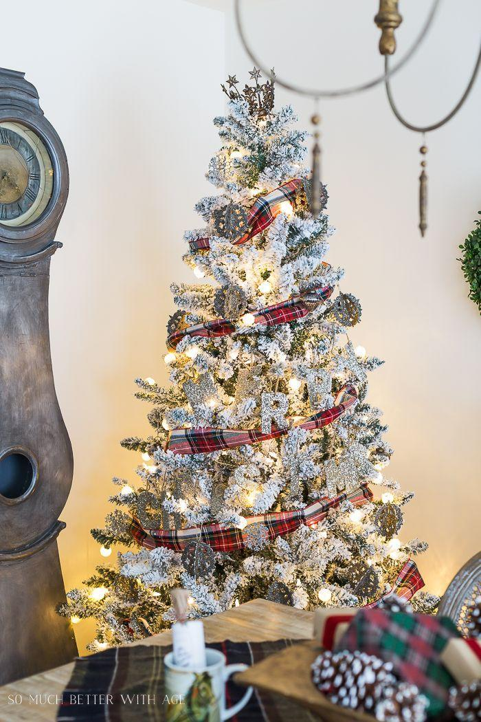 """<p>The unexpected combination of metallics, glitter, and plaid makes for a tree that's chic and totally unique. </p><p><strong><em>Get the tutorial at <a href=""""https://somuchbetterwithage.com/christmas-plaid-table-setting/"""" rel=""""nofollow noopener"""" target=""""_blank"""" data-ylk=""""slk:So Much Better With Age"""" class=""""link rapid-noclick-resp"""">So Much Better With Age</a>. </em></strong></p><p><a class=""""link rapid-noclick-resp"""" href=""""https://www.amazon.com/PEIDUO-Christmas-Jeweled-Adapter-Decoration/dp/B08D6CCQ7X?tag=syn-yahoo-20&ascsubtag=%5Bartid%7C10070.g.2025%5Bsrc%7Cyahoo-us"""" rel=""""nofollow noopener"""" target=""""_blank"""" data-ylk=""""slk:SHOP CROWN TREE TOPPER"""">SHOP CROWN TREE TOPPER</a></p>"""