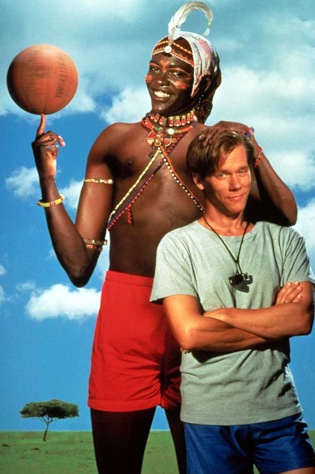 """<b>Starting Power Forward:</b><br>Saleh (Charles Gitonga Maina) in """"The Air Up There"""" (1994) -- They guy is 6'10"""", jumps out of the gym, and can do the """"Jimmy Dolan Shake and Bake""""."""