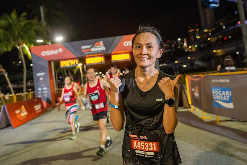 Osim Sundown Marathon 2019 women's winner Sharon Tan. (PHOTO: Osim Sundown Marathon)