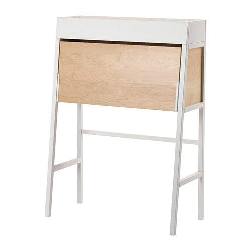 """<p><strong>IKEA</strong></p><p>ikea.com</p><p><strong>$199.00</strong></p><p><a href=""""https://go.redirectingat.com?id=74968X1596630&url=https%3A%2F%2Fwww.ikea.com%2Fus%2Fen%2Fcatalog%2Fproducts%2F80260701%2F&sref=http%3A%2F%2Fwww.bestproducts.com%2Fhome%2Fdecor%2Fg89%2Fsecretary-desks-small-spaces%2F"""" target=""""_blank"""">Shop Now</a></p><p>Designed with <a href=""""https://www.curbed.com/2017/11/27/16706234/small-space-storage-ideas-bedroom-kitchen"""" target=""""_blank"""">the small-space dweller</a> in mind, this convertible IKEA secretary desk can be closed to open up the space around it for off-hours enjoyment. When the desk surface is down, the inside is completely open and shelf-free, though it has openings in the back for cables.</p>"""