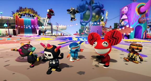 The red guy with the big ears is DeadMau5.