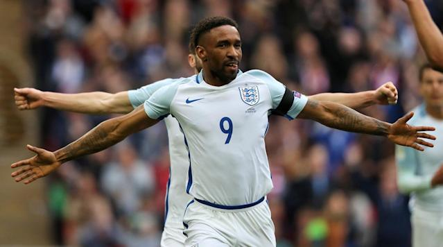 LONDON (AP) - Jermain Defoe made a scoring return after more than three years out of the England team as the Group F leaders eased to a 2-0 victory over Lithuania in World Cup qualifying on Sunday.