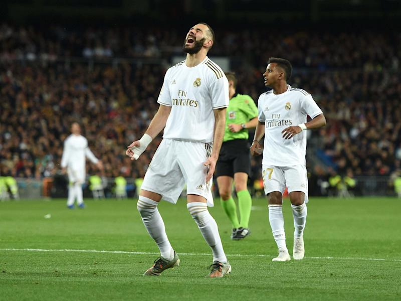 Karim Benzema has looked a one-man army in front of goal for Real Madrid: Getty