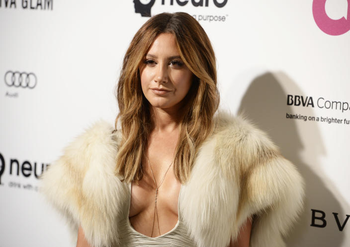 Ashley Tisdale is documenting her pregnancy and all her changing emotions. (Photo: REUTERS/Gus Ruelas)