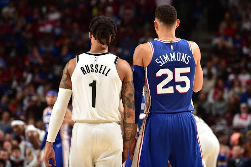 Will D'Angelo Russell or Ben Simmons be the best All-Star point guard in the Nets-Sixers series? (Getty Images)