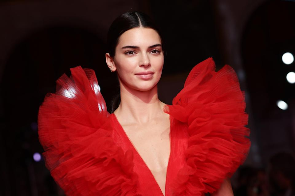 File image: Kendall Jenner walks the runway during the Giambattista Valli Loves H&M show 2019 (Getty Images)