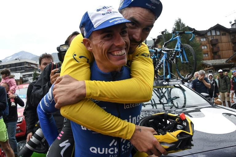 Movistar new recruit Enric Mas (in blue) was a key factor in Julian Alaphilippe's bid for Tour de France glory