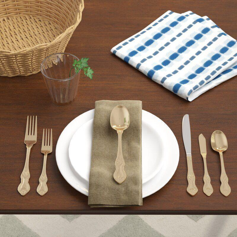 """<p><strong>Birch Lane\u2122 Heritage</strong></p><p>wayfair.com</p><p><strong>$74.99</strong></p><p><a href=""""https://go.redirectingat.com?id=74968X1596630&url=https%3A%2F%2Fwww.wayfair.com%2Fkitchen-tabletop%2Fpdp%2Fbirch-lane-heritage-claudio-30-piece-180-stainless-steel-flatware-set-service-for-6-bl6602.html&sref=https%3A%2F%2Fwww.womenshealthmag.com%2Flife%2Fg32950001%2Fbest-flatware-sets%2F"""" rel=""""nofollow noopener"""" target=""""_blank"""" data-ylk=""""slk:Shop Now"""" class=""""link rapid-noclick-resp"""">Shop Now</a></p><p>If you're looking for fancy vibes, then upgrade your cutlery to this 30-piece stainless steel set. The carved handles and gold plating will add some regal flare to any dinner table. </p>"""